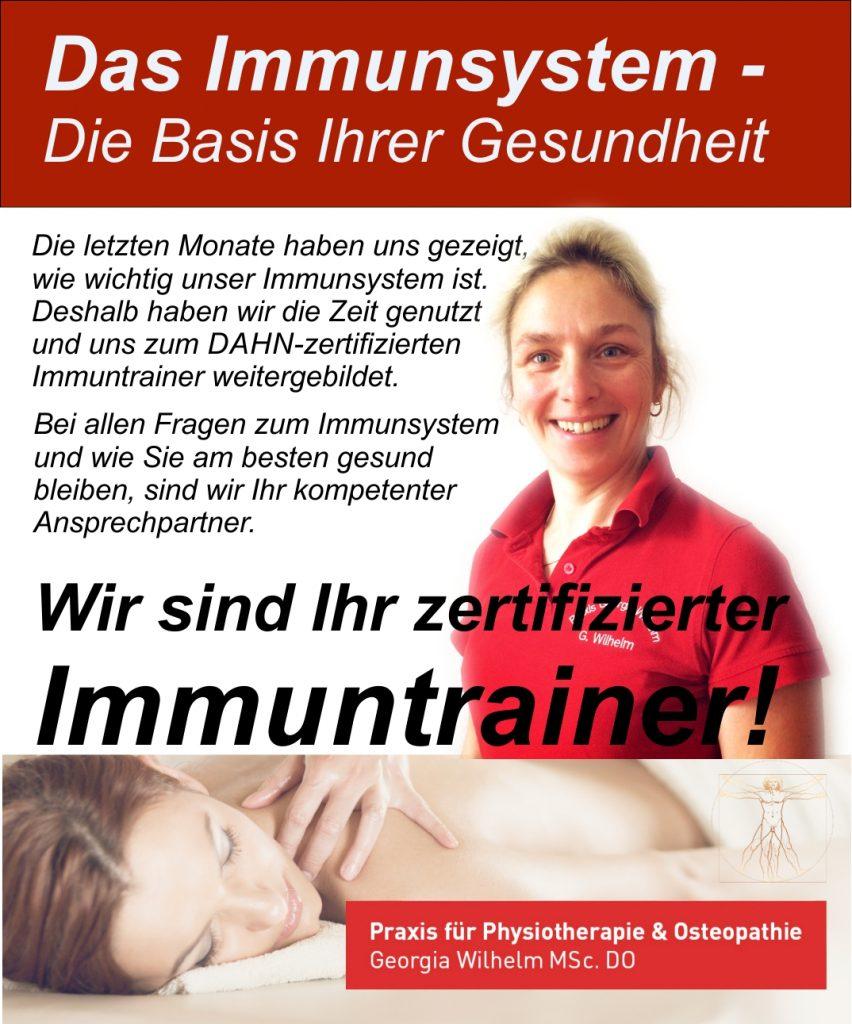 zertifizierter Immuntrainer